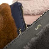 Bolso cosmético cosmético de la PU y de la piel del bolso de la alta manera del bolso de la cremallera del bolso de totalizador del bolso del último diseño