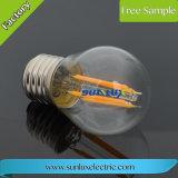 E27 E26 St64 2W, 4W, 6W 의 8W LED 필라멘트 전구