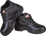 De Stof van Oxford met de Schoen van de Veiligheid van het Leer/de Echte Schoenen die van de Veiligheid van het Leer wordt gemengd