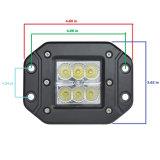 Lumière de travail de l'automobile DEL de cube pouce E-MARK R10 R23 R112 des camions 18W 3
