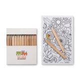 Conjunto del adulto del gráfico con 10 tarjetas y 12 lápices coloreados