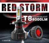 極度の明るいH4 LEDのヘッドライトの球根12V 24V 8000lm T8 LED車のヘッドライトキットH7 H11