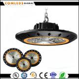 Alta bahía del UFO LED de Dimmable 130lm/W 60W 80W 100W 150W 200W del brillo alta al aire libre