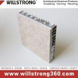 Recto-verso panneau alvéolaire en aluminium avec un niveau ignifuge