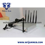 jammer do GPS WiFi do telefone móvel da antena 15W 6