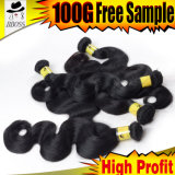 marques brésiliennes d'armure de Fumi de cheveux humains de la pente 8A