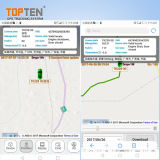 Perseguidor da segurança do carro do GPS do veículo com posição no mapa de Google (TK208-ER)