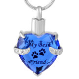 Mijn Hond Mijn Juwelen van de Crematie van het Glas van het Af:drukken van de Poot van het Huisdier van de Vriend