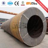 Alto secador rotatorio de los pedazos de madera de la producción de la venta caliente