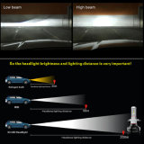 다중 색깔 광속 H4 H11 9006 6000lm는 LED 헤드라이트 전구 H7를 방수 처리한다