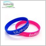 Wristband di gomma non tossico di sport del braccialetto di perimetro 190mm