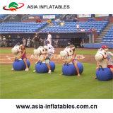 Almofada insuflável Pony Hop Racing Race Track Derby insufláveis Corrida, almofada insuflável Horse Racing