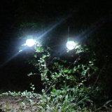 Lumière solaire actionnée solaire de base rechargeable solaire de jardin de pieu de l'ampoule E27