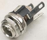 X 2.1mm 5.5mm источник питания постоянного тока металлические гнездо с гайкой и шайбой