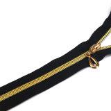Zipper hermético gigante do revestimento do ouro de Rosa