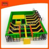 Foam Pit Basketball Hoop와 Dodge Ball를 가진 새로운 Design Commercial Professional Indoor Trampoline