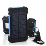 10000mAh gravieren Energien-Bank wasserdichte der Telefon-Aufladeeinheits-SolardringlichkeitsF5 mit Taschenlampe
