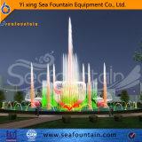 Grand affichage LED fontaine multicolore en acier inoxydable