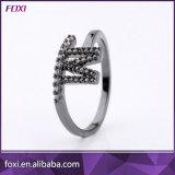 Dubai 24K Zircónia jóias de cobre de ouro anéis de mulheres