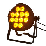 Rasha 사건을%s 새로운 도착 확실히 알루미늄 LED 동위 빛 12PCS 18W 6in1 Rgbaw UV 무선 LED 단계 빛