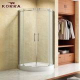 Gabinete de chuveiro de arco com 2 portas deslizantes