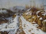 Ручная работа зимний пейзаж картины маслом для монтажа на стену оформление