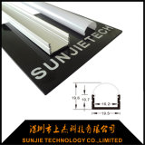 Manica di alluminio a forma di U del LED per l'indicatore luminoso di striscia