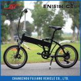 Vélo électrique noir contrôlé facile de Fodable avec la portée confortable