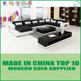 Base de sofá de madera del cuero genuino de los muebles de la sala de estar