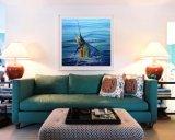 Estirado de alta calidad de vida marina hechos a mano de pintura de aceite de pescado para la decoración del hogar