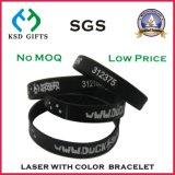 Braccialetto variopinto personalizzato della gomma di silicone con il marchio (KSD-828)