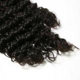 深い波の人間の毛髪100%の加工されていない卸し売りバージンのインドの人間の毛髪