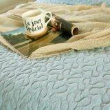 Edredón acolchado verde 100% del algodón del estilo americano para los lechos
