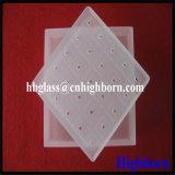 Laser de haute qualité Jgs personnaliser morceau de verre de quartz de silice de rainurage
