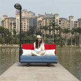 El estilo moderno salva la base de sofá plegable suave de múltiples funciones de la tela del espacio