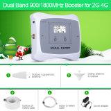 Double bande 2g 4g Signal Booster 900/1800MHz Amplificateur de signal de couvrir 500m2