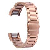 2018 La moda de la banda de Vínculos de oro rosa de 18mm 20mm 22mm de acero inoxidable para la banda de Fitbit