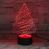 アクリル材料のスマートな照明LED夜ランプのBluetoothのスピーカー3Dの軽いクリスマスツリー