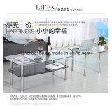 현대 디자인 U 자 모양 아크릴 커피용 탁자