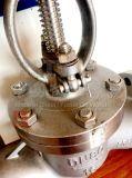 De gegoten Klep van de Bol van de Flens van het Wiel van de Hand van het Roestvrij staal DIN
