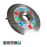 Warmes Weiß, RGB, 9X2w, 24VDC LED Brunnen-Unterwasserdüsen-Licht