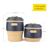 luva da resistência térmica de 350ml 12oz e caneca de café dobrável do projeto Leak-Proof