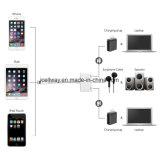 3.5mm 결합 오디오 접합기 케이블 iPhone7 8 Apple 헤드폰 접합기에 두 배 번개
