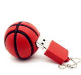 Movimentação do flash do USB do basquetebol do silicone da movimentação da pena do USB 2.0