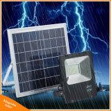 Recharegeable 50W/100W 거리 잔디밭 점화를 위한 옥외 태양 전지판 강화된 LED 플러드 빛