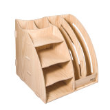 DIY Organizador Papelaria de madeira com 2 colunas de rack de Arquivo