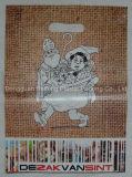 De douane Afgedrukte Plastic Zakken van het Handvat van de Besnoeiing van de Matrijs voor Kledingstukken