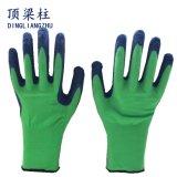 Polyester-Shell-Latex beschichtete Sicherheits-Arbeits-Handschuhe mit Cer