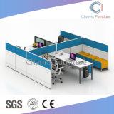 Ufficio diritto popolare Workstaiton del blocco per grafici del metallo di figura delle quattro sedi con il Governo fisso (CAS-W31401)