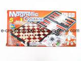 5 в 1 магнитные игры в шахматы Checker Domines Backgammon карты